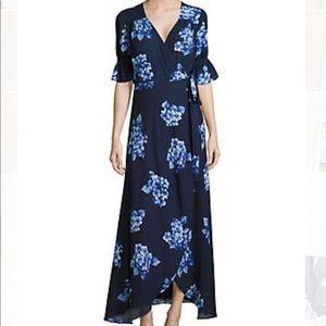 BRAND NEW!!💙 Isaac Mizrahi Floral Print Wrap Maxi